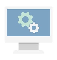 Monitor Settings Icon vector