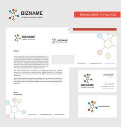 network business letterhead envelope and visiting vector image