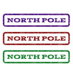 North pole watermark stamp vector