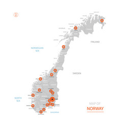 norway map with administrative divisions vector image
