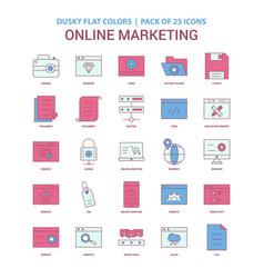 online marketing icon dusky flat color - vintage vector image