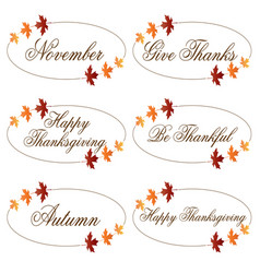 Ornate thanksgiving clipart vector