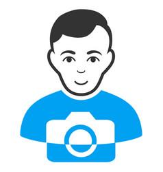 Photographer flat icon vector