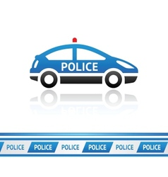 Police car police tape vector image