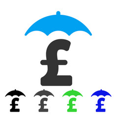 Pound finances roof flat icon vector