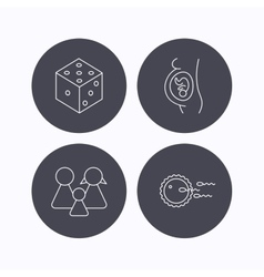 Pregnancy family and family planning icons vector