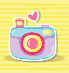Punchy pastel camera vector