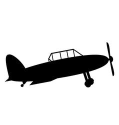 Retro military airplane icon vector