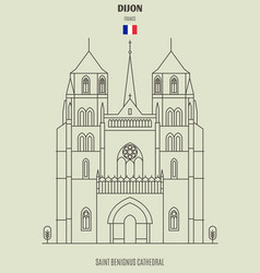saint benignus cathedral of dijon vector image