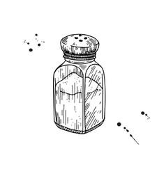 Salt shaker baking and cooking ingredient vector