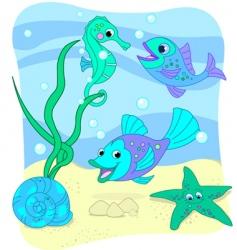 sea world vector image