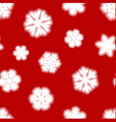 Seamless pattern of big blurry snowflakes vector