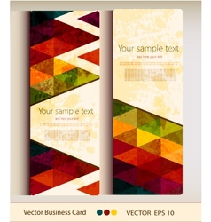Set abstract geometric business card vector