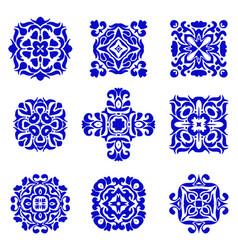 set of classic ornamental tile design vector image