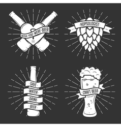 Set of t-shirt beer prints Vintage vector image