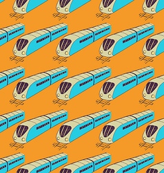 Sketch train pattern vector image