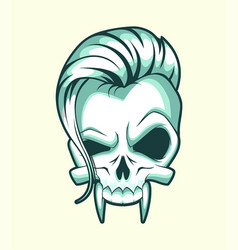 Skull stylize vector