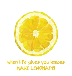 Slice of Lemon vector image