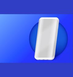 Smartphone presentation mockup in blue color vector