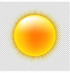 Sun with transparent background vector