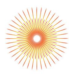sunburst emblem isolated icon design vector image