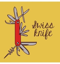 Swiss army knife design vector