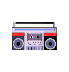 Tape recorder of 80s closeup vector