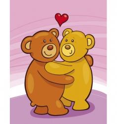 teddy bears in love vector image