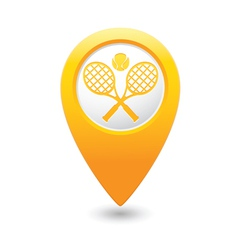 tennis MAP pointer yellow vector image