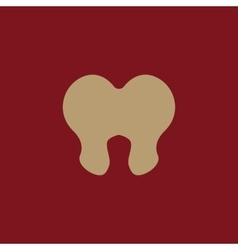 The tooth icon Dentist and stomatology symbol vector