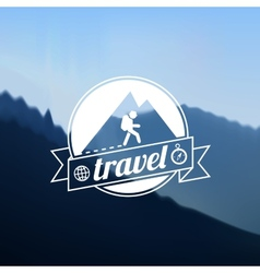 Tourism travel logo design vector image