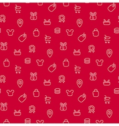 Trade sale background seamless pattern vector image
