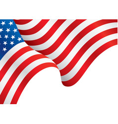 usa flag waving in wind flag background vector image