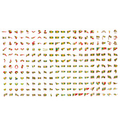 very big collection of flags of the grenada vector image