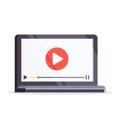 Vlog concept laptop in a flat style isolated vector