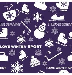 Winter sports seamless pattern vector