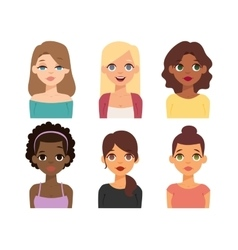 Woman nationality race vector