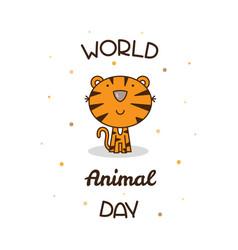 world animal day vector image