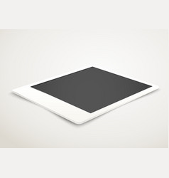 Blank photo frame in perspective vector image vector image