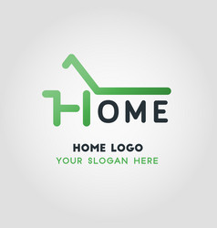 green home business logo template vector image