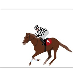 jockey 2 vector image