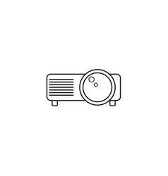 projector line icon outline logo vector image