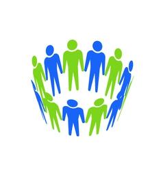 Teamwork abstract icon vector image vector image