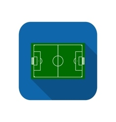 Template realistic football field with lines vector image