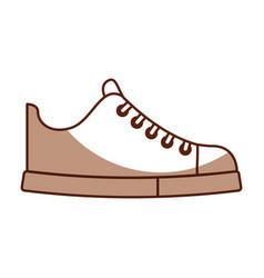 cute shadow shoe cartoon vector image vector image