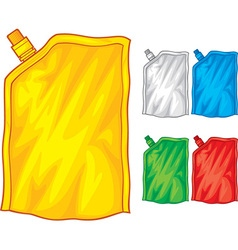 Food or drink pouch vector image
