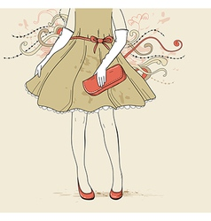girl fashion background vector image vector image