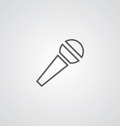 microphone outline symbol dark on white background vector image vector image