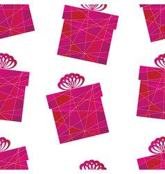 pattern with a box vector image vector image