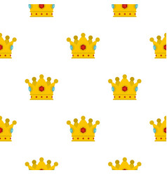 precious crown pattern flat vector image vector image
